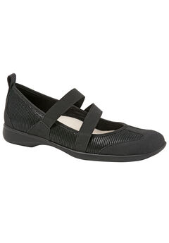Josie Flats by Trotters®, BLACK PATENT SUEDE, hi-res