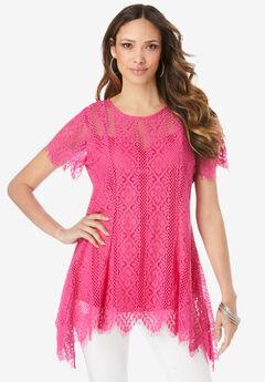 Lace Flutter Tunic,