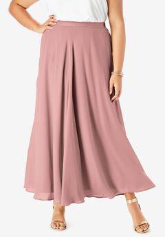 Georgette Maxi Skirt, SOFT MAUVE