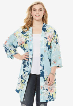 Printed Kimono Jacket,