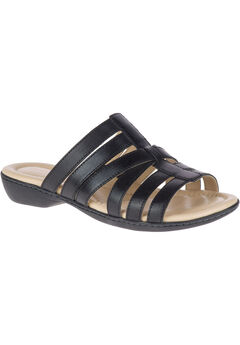 Dachshund Slides by Hush Puppies®, BLACK LEATHER, hi-res