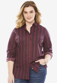 Katelyn Shirt, MIDNIGHT BERRY STRIPE, hi-res