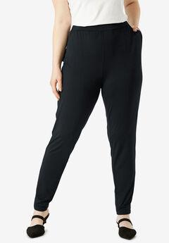 Tapered Leg Pant, BLACK