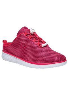 TravelFit Slide Sneakers by Propet®, RED BLACK, hi-res