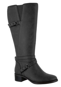 Clarita Plus Wide Calf Boots by Easy Street®, BLACK, hi-res