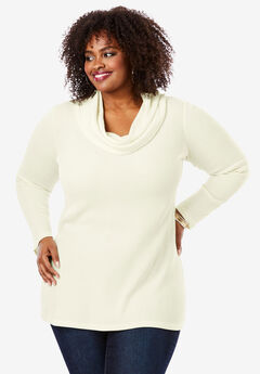 Thermal Cowl Neck Tunic, IVORY