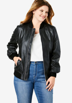 Classic Leather Bomber,