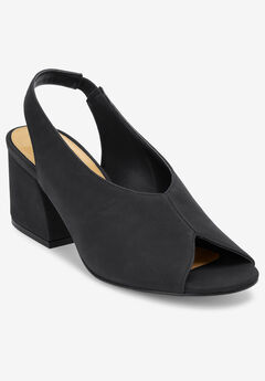 The Nessa Slingback by Comfortview®, BLACK