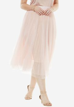 Ballerina Tulle Skirt, PALE BLUSH, hi-res
