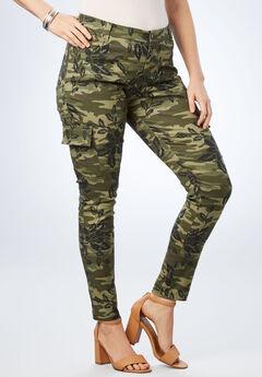 Glam Skinny Cargo Pant, CAMO