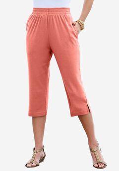 Soft Knit Capri, DUSTY CORAL, hi-res