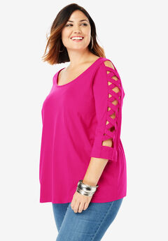 Lattice-Sleeve Ultimate Tee,