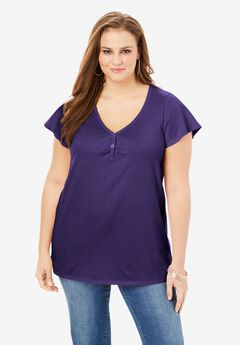 Flutter-Sleeve Sweetheart Ultimate Tee,