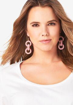 Beaded Loop Earring,
