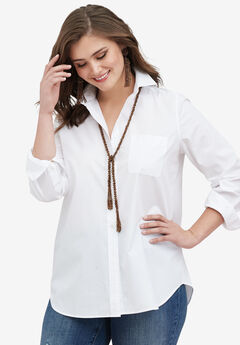 The Boyfriend Shirt, WHITE, hi-res
