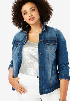 Essential Denim Jacket, MEDIUM WASH