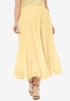 Cotton Lace Skirt,