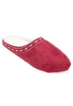 Stitched Clog Slipper by Comfortview®, WINE, hi-res