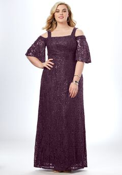 Flutter Sleeve Gown,