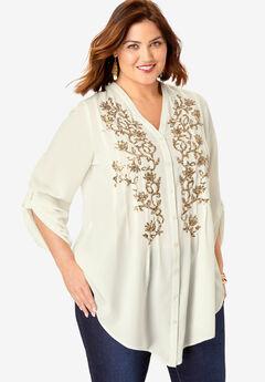 Glam Embellished Tunic,