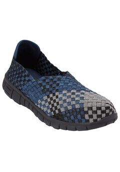 Ria Woven Sneaker by Comfortview, NAVY METALLIC MULTI, hi-res