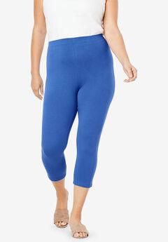 Essential Stretch Capri Legging, TRUE BLUE