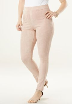 Faux Suede Leggings, ROSE HAZE