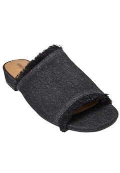 Faryl Mules by Comfortview®, BLACK