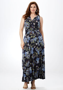 Full Skirt Maxi Dress,