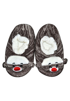 Monkey Slippers by Muk Luks®, BROWN TWEED, hi-res
