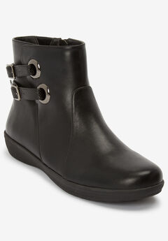 The Eliana Bootie by Comfortview®, BLACK