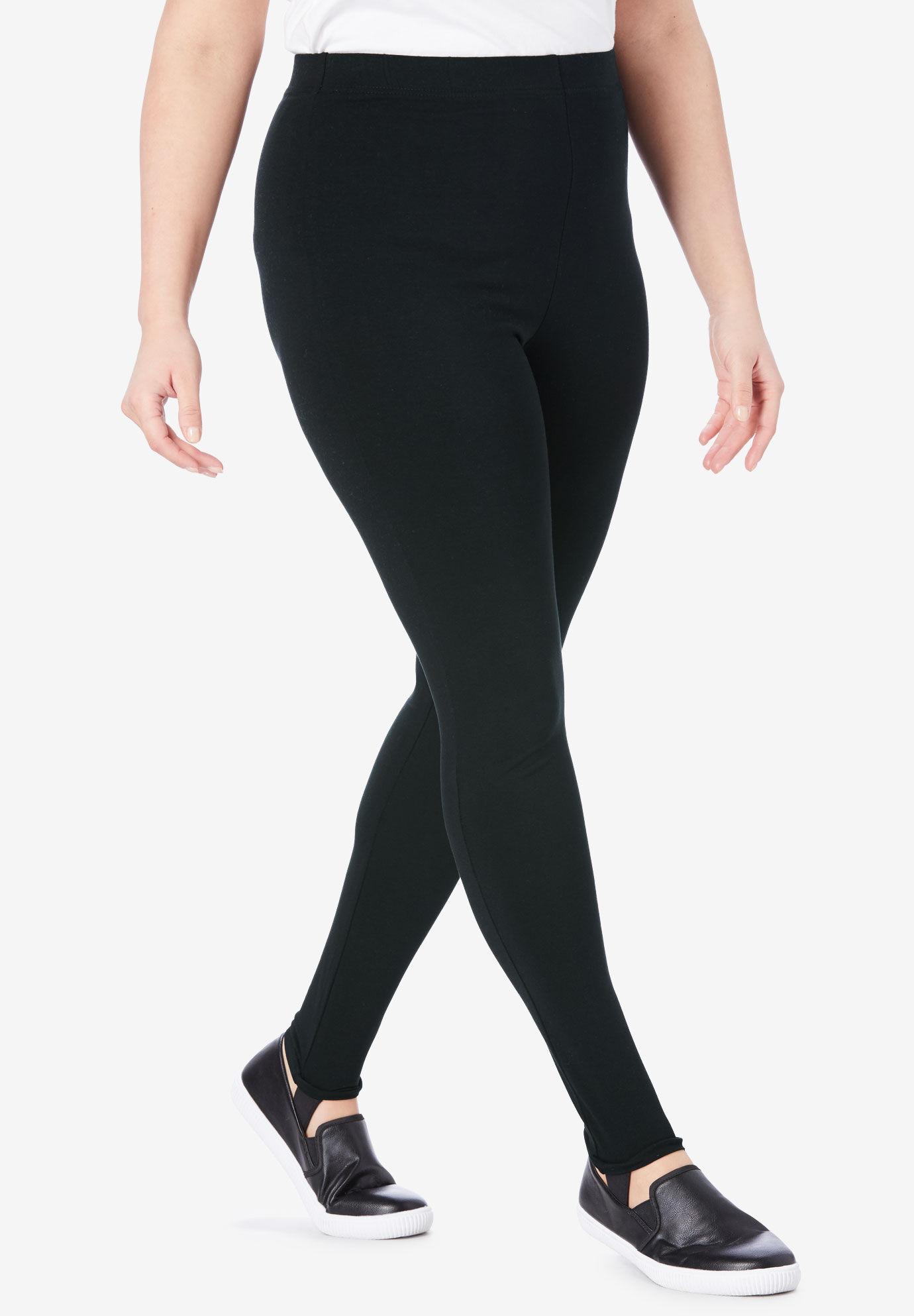 Roamans Womens Plus Size Essential Stretch Legging