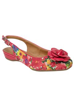 Jessa Fabric Slingback by Comfortview®, CARNATION WATERCOLOR, hi-res