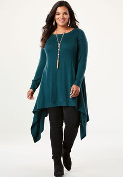 Boatneck Trapeze Sweater,