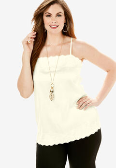 Lace-Trim Cami,