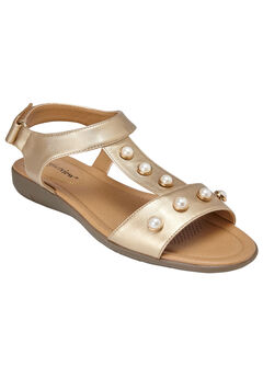 Annalise Sandals by Comfortview®, GOLD, hi-res