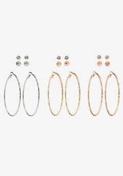 Hoop Earring & Stud Set,