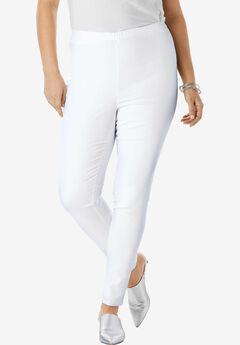 Skinny Pull-On Stretch Jean by Denim 24/7®, WHITE DENIM