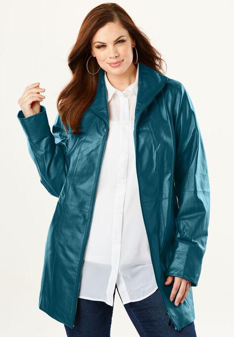 83b26988b0c A-Line Leather Jacket