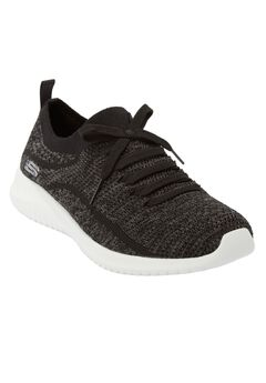 The Ultra Flex Statement Sneaker By Skechers®, BLACK GREY WIDE