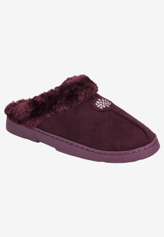 Clog with Fur Lining by Muk Luks®, BURGUNDY, hi-res