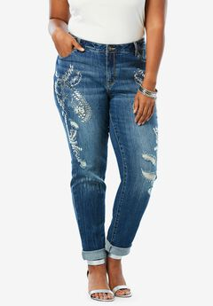 Embellished Boyfriend Jean by Denim 24/7®,