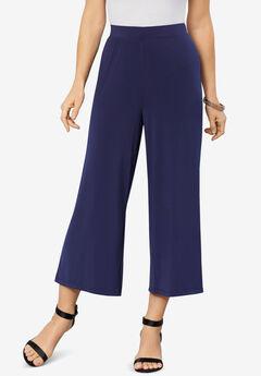 Ultrasmooth® Fabric Wide-Leg Crop Pant,