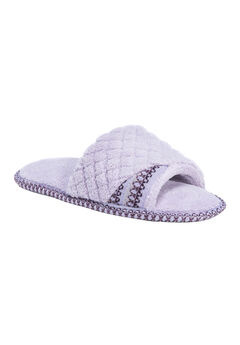 Sally Open Toe Slippers by Muk Luks®, HYDRANGEA