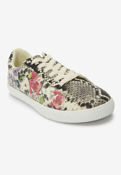 The Hadlee Sneaker by Comfortview®, FLORAL SNAKE PRINT
