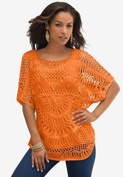 Cropped Crochet Sweater,