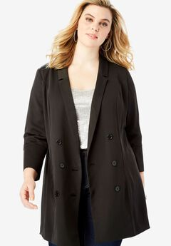 Long Satin Blazer,