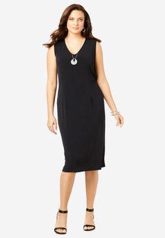 Ultrasmooth® Sheath Dress, BLACK