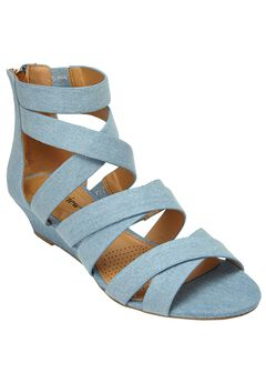 Lenci Sandals by Comfortview®, LIGHT DENIM, hi-res