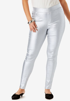 The No-Gap Jegging by Denim 24/7®, SILVER SHIMMER